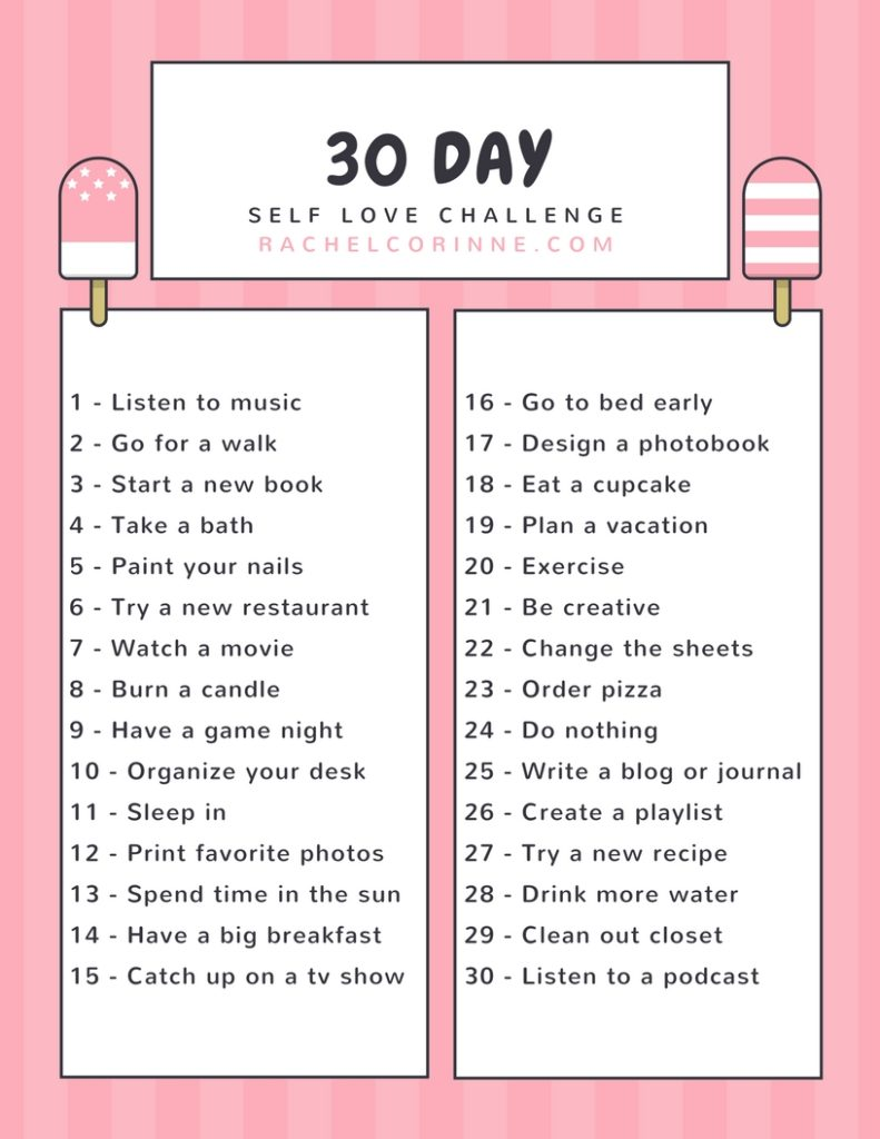 30 Day Self Love Challenge