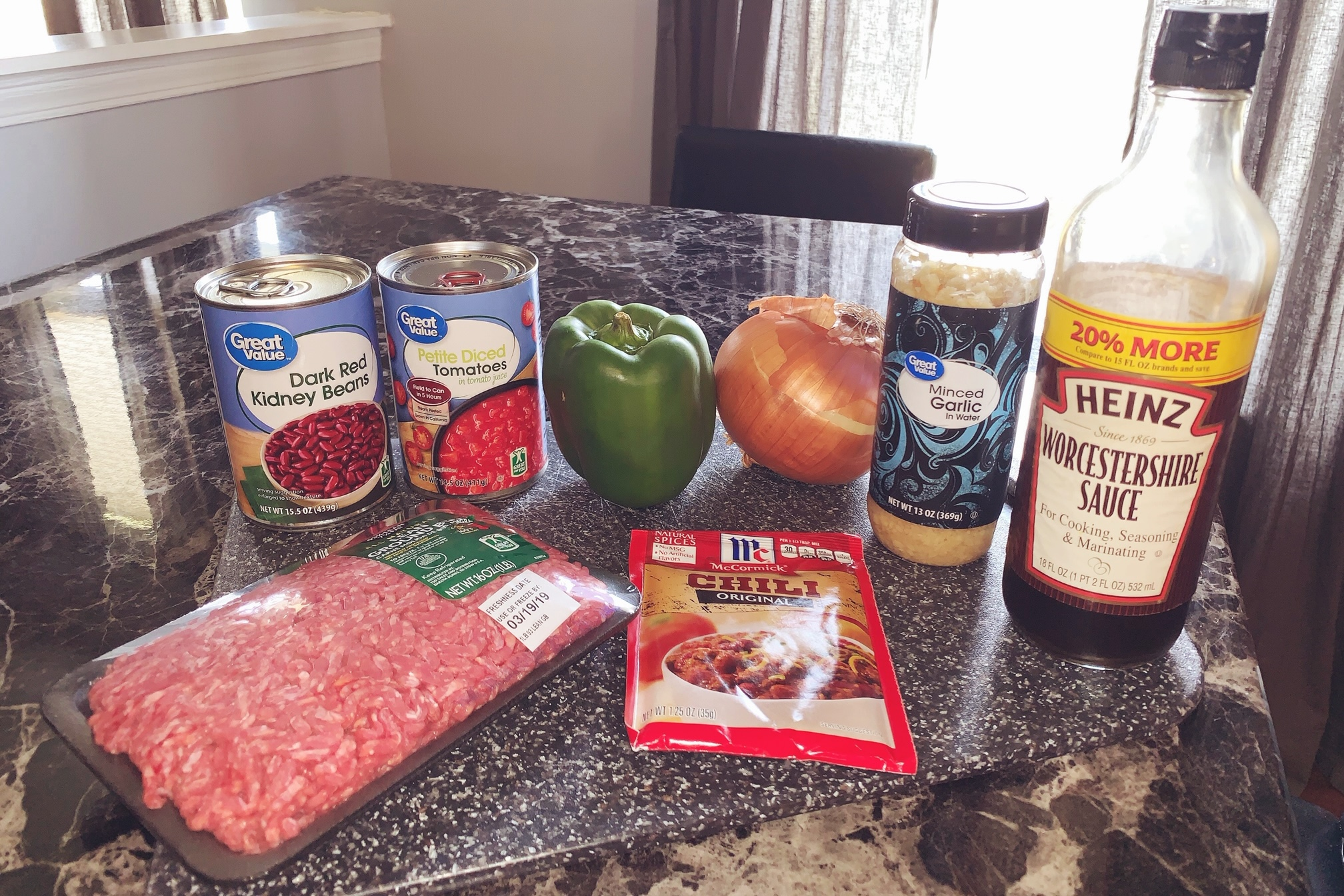 Quick and Easy Chili Recipe Ingredients