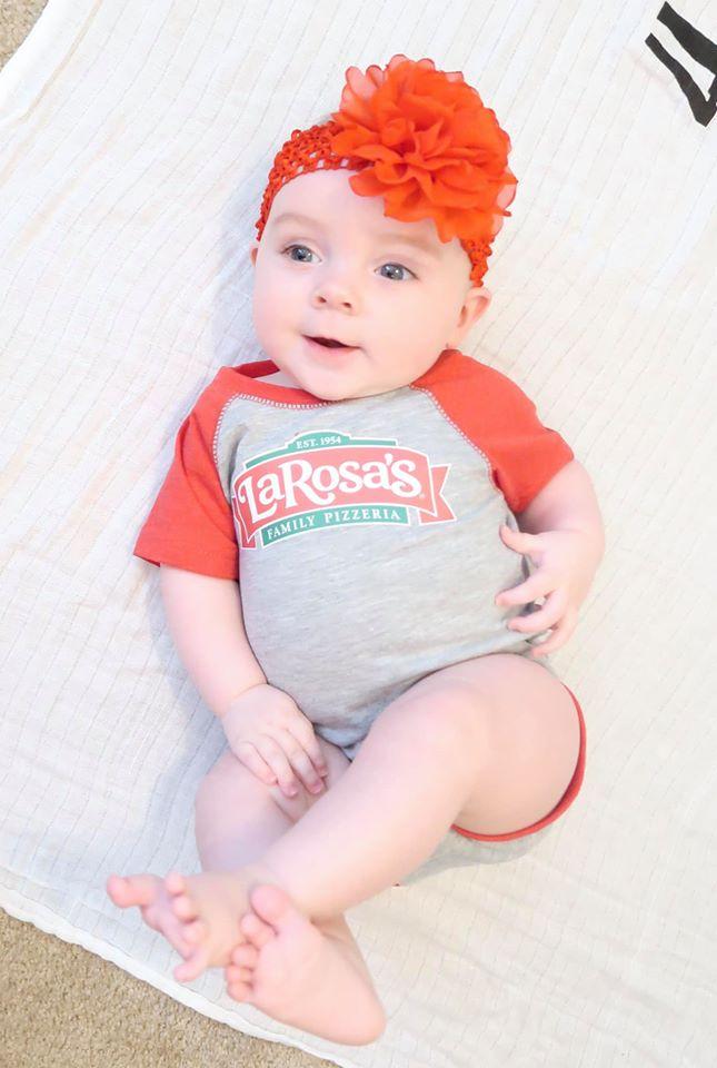 Baby In LaRosa's Onesie