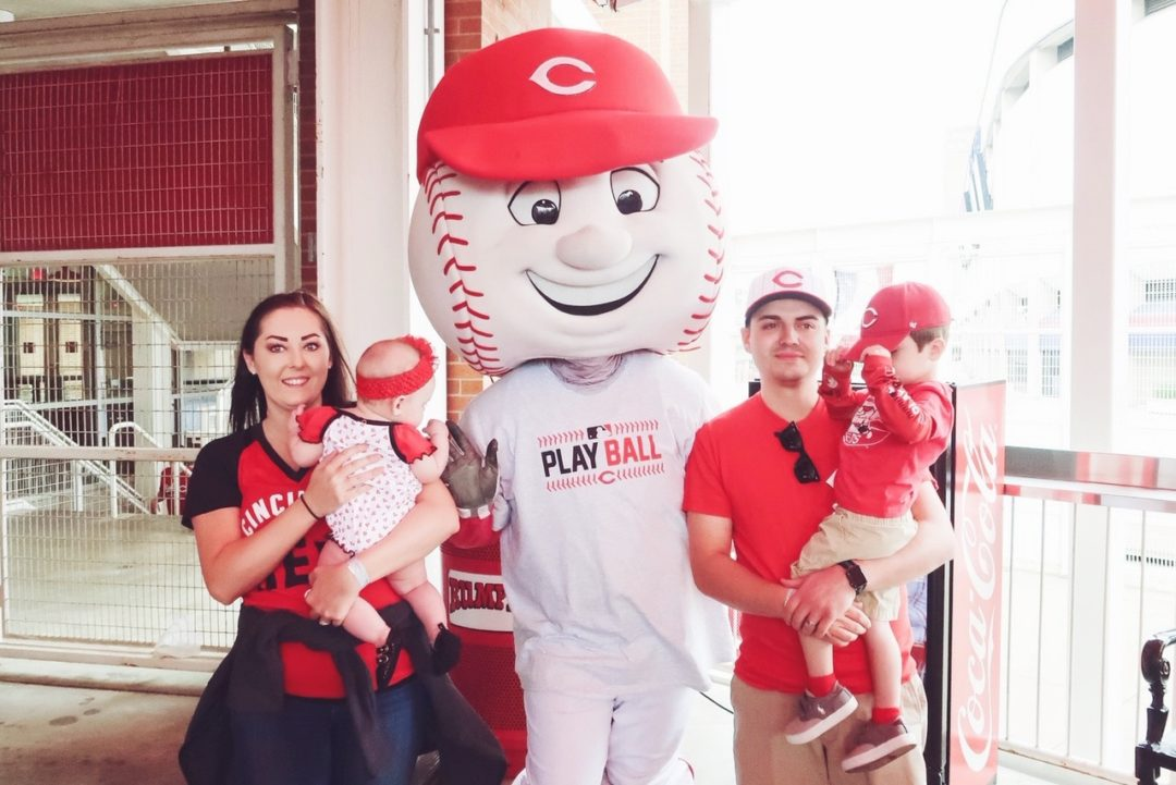 Babies at Cincinnati Reds Game