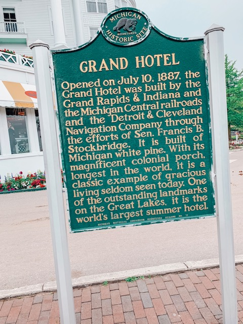 Sign In Front Of Grand Hotel