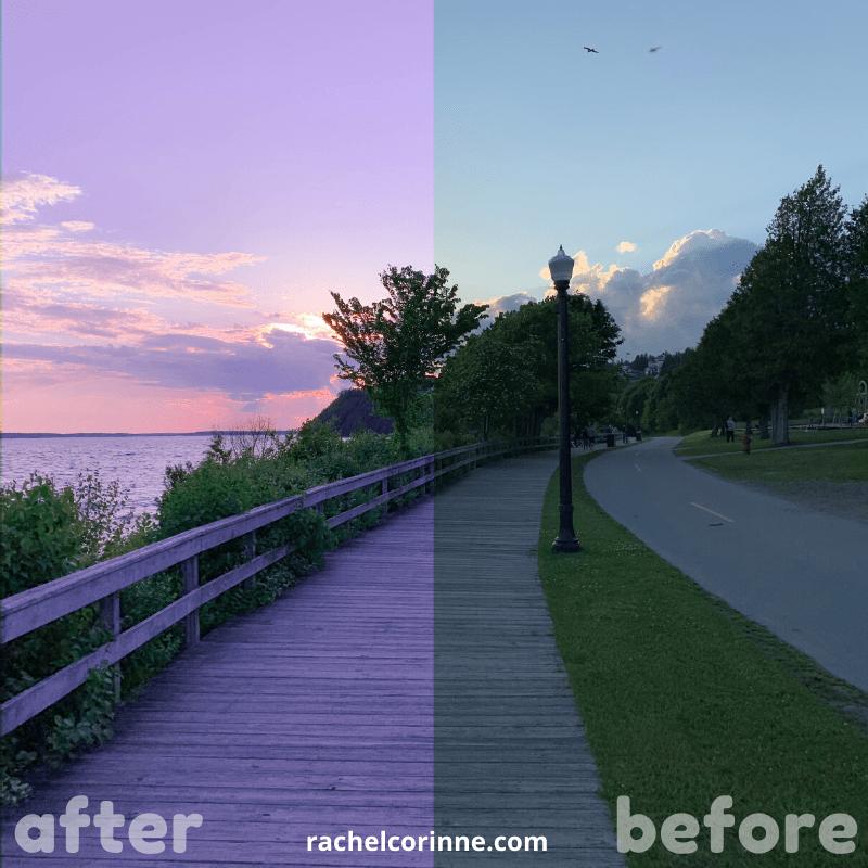 Free Lightroom Preset Mackinac Sunset