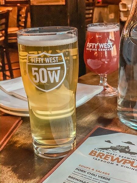 fifty west brewpub beer