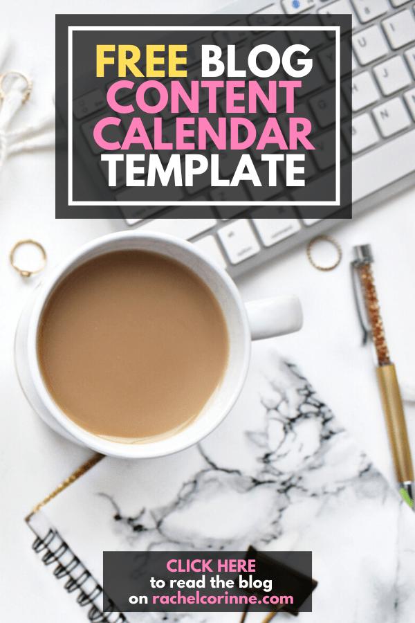 blog content calendar template