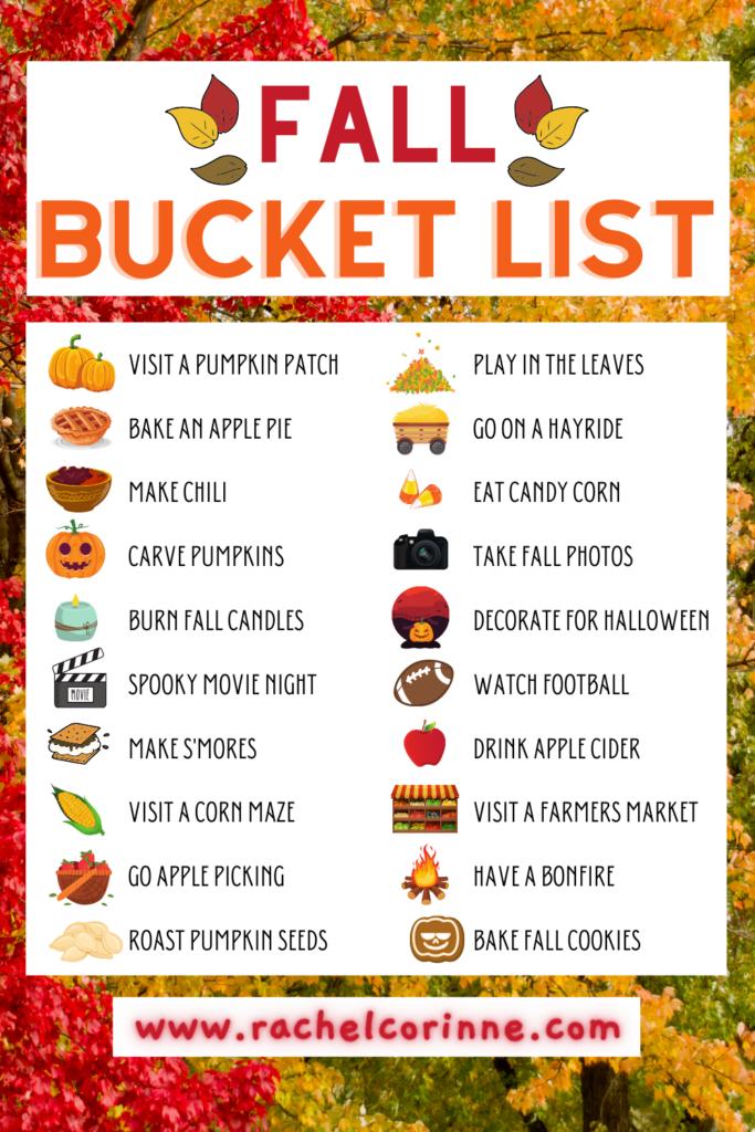 Fall Bucket List 2020