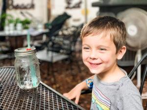little boy at lowcountry backyard