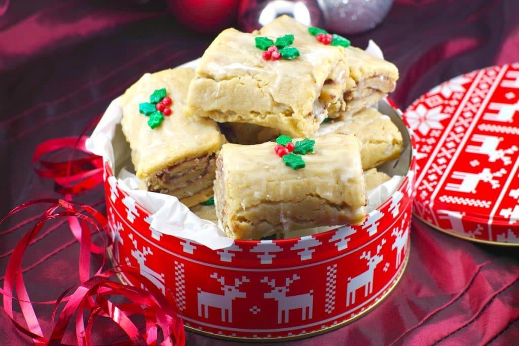 gingerbread yule log cookies